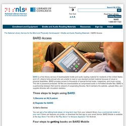 BARD Access - National Library Service for the Blind and Physically Handicapped (NLS)
