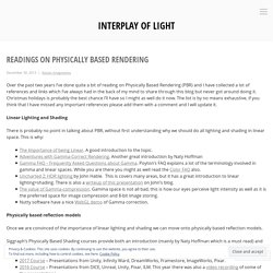 Readings on Physically Based Rendering – Interplay of Light