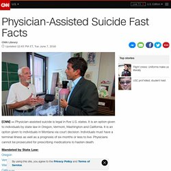 Physician-Assisted Suicide Fast Facts