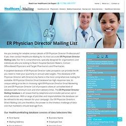Emergency Room Physicians Database