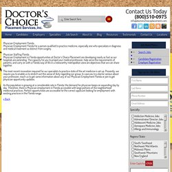 Physician Employment Florida - Physician Staffing Florida