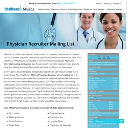 Physician Recruiter Email Database
