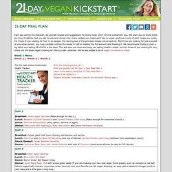 21-Day Vegan Kickstart / a Physicians Committee for Responsible Medicine (PCRM) site