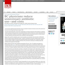 BC physicians reduce unnecessary antibiotic use—and costs