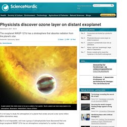 Physicists discover ozone layer on distant exoplanet