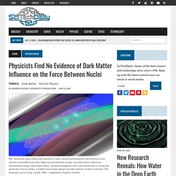 Physicists Find No Evidence of Dark Matter Influence on the Force Between Nuclei
