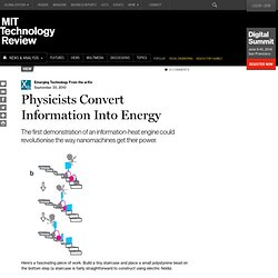 Physicists Convert Information Into Energy