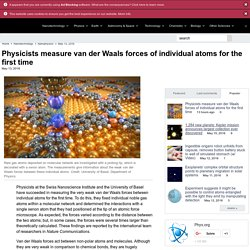 icists measure van der Waals forces of individual atoms for the first time
