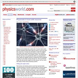 Physicists in tune with neurons