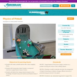 Physics of Pinball - BirdBrain Technologies