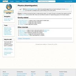 Physics (disambiguation) - Scratch Wiki