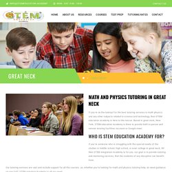 Physics and Math Tutor in Great Neck - STEM Education Academy