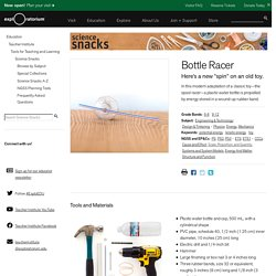 Bottle Racer: Physics & Engineering Science Activity