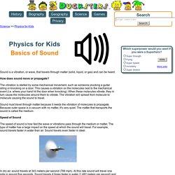 Physics for Kids: Basics of Sound