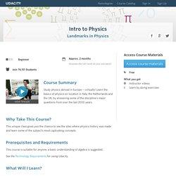 Intro to Physics (PH100)