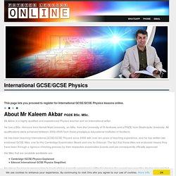 Best IGCSE Physics Classes