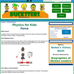 Physics for Kids: Force
