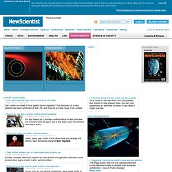 Compelling Coverage of Physics And Math from New Scientist - New