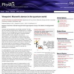 Maxwell's demon in the quantum world