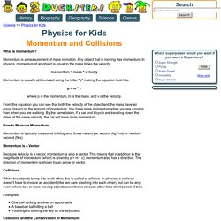 Physics for Kids: Momentum and Collisions