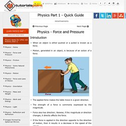 Physics Part 1 Quick Guide