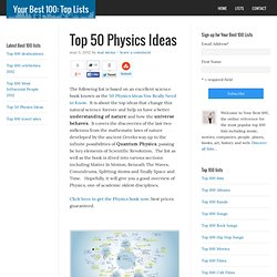 Top 50 Physics Ideas: the principles that changed the world