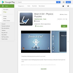 Brain It On! - Physics Puzzles - Aplicaciones Android en Google Play