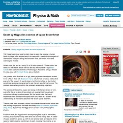 Death by Higgs rids cosmos of space brain threat - physics-math - 04 September 2013