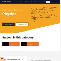 Get 1:1 personalized session with best physics tutor