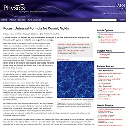 Universal Formula for Cosmic Voids