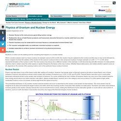 Physics of Uranium and Nuclear Energy