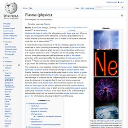 Plasma (physics)