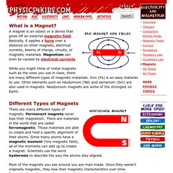 Electricity & Magnetism: Magnets