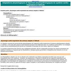 physiologie cardio-respiratoire