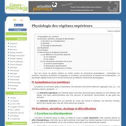 Physiologie des végétaux supérieurs