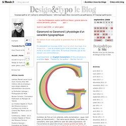 physiologie d'un caractère typographique