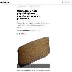 Cannabis: effets physiologiques, psychologiques et pratiques