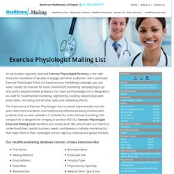 Physiologist Email Addresses Database