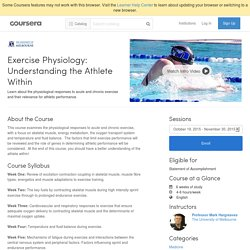 Exercise Physiology: Understanding the Athlete Within - The University of Melbourne