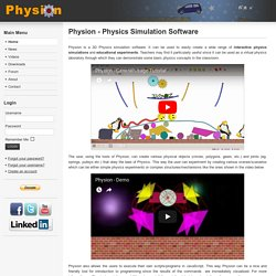 Physion - Physics Simulation Software