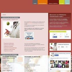 Diététicien Nutritionniste Santé - Cours de BTS diététique (régime, nutrition, alimentation, physiopathologie, biochimie, biologie, physiologie, microbiologie, cuisine)