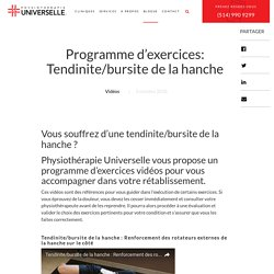 Programme d'exercices: Tendinite/bursite de la hanche - Physiothérapie Universelle