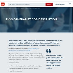 Physiotherapist: job description