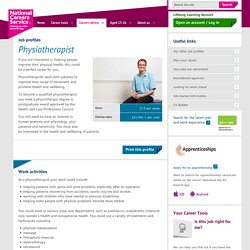 Physiotherapist Job Information