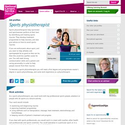 Sports physiotherapist Job Information