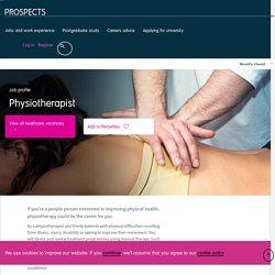 Physiotherapist job profile