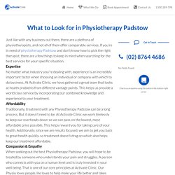 Physiotherapy chipping norton