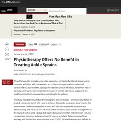 Physiotherapy of No Benefit for Ankle Sprain