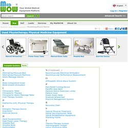 Buy Used Medical Physiotherapy Equipment