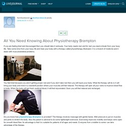 All You Need Knowing About Physiotherapy Brampton